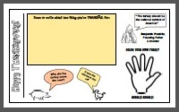 Thanksgiving Fun Placemat/Dining Etiquette Lesson