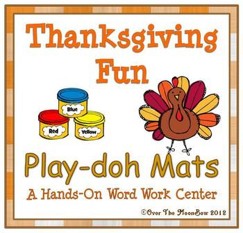 Thanksgiving Fun Playdoh Mats