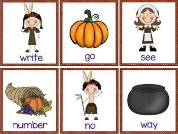 Thanksgiving Activities & Games FRY SIGHT WORDS