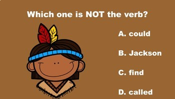 Thanksgiving Fun With Nouns, Verbs, and Adjectives - A PowerPoint Game Mini Pack