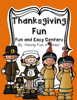 Thanksgiving Fun and Easy Centers