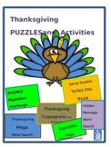 Thanksgiving Puzzles and Activities for Upper Grades