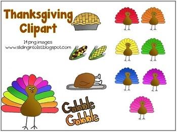 Thanksgiving Fun {clipart} {freebie}
