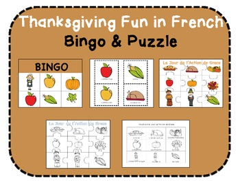 Thanksgiving Fun in French