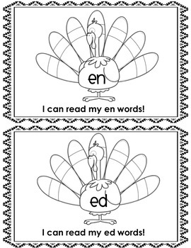 Thanksgiving Fun with CVC Words for Grades K-1