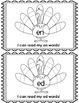 CVC Word Game Worksheets with Thanksgiving Theme for Grades K-1