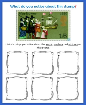 Thanksgiving:  Fun with Postage Stamps