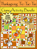 Thanksgiving Game Activities: Thanksgiving Tic-Tac-Toe Games Bundle - Color