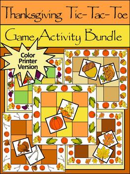 Thanksgiving Game Activities: Thanksgiving Tic-Tac-Toe Gam