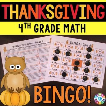 4th Grade Thanksgiving Activity: 4th Grade Thanksgiving Ma