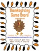 Thanksgiving Game Board {Spanish}
