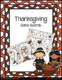 Thanksgiving {Game Boards}