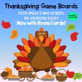 Thanksgiving Game Boards!  Open-Ended Game Boards  No Print/No Prep!