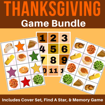 Thanksgiving Food Game Bundle | Find-A-Star, Memory, Tic-Tac-Toe & Stars  VIPKid