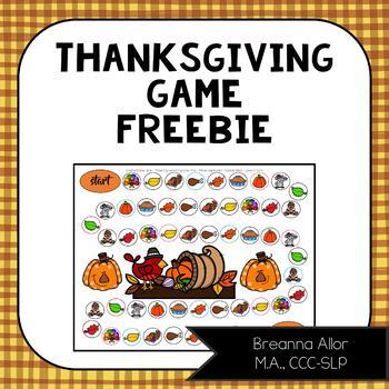 Thanksgiving Game Freebie