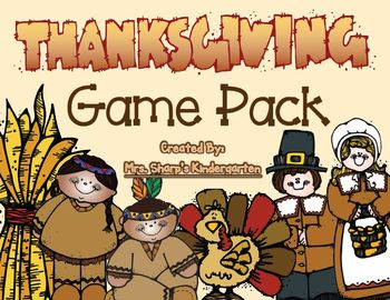 Thanksgiving Game Pack - Math & Literacy Games