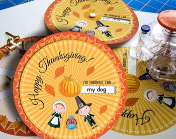 Thanksgiving Game • Paper Craft Wheel • Printable Classroo