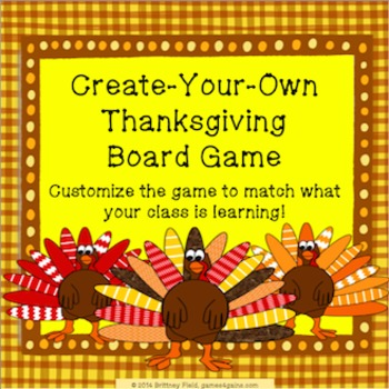 Thanksgiving Game: Customizable Thanksgiving Activity