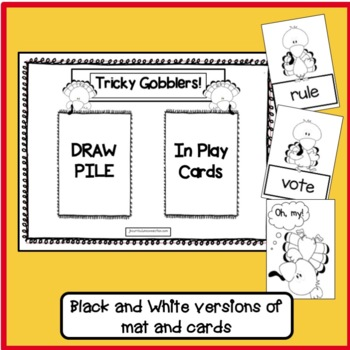 CVC & CVCe Word Game! Tricky Gobblers  - Thanksgiving Theme {EDITABLE}