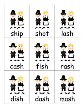 Thanksgiving Game for Digraphs ch, sh, th, and wh