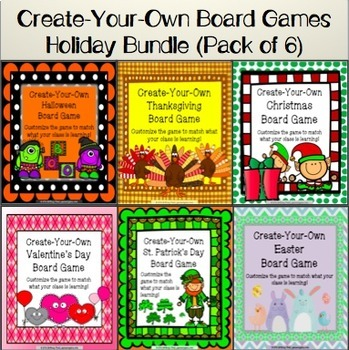 Holiday Games Bundle: Customizable Holiday Activities
