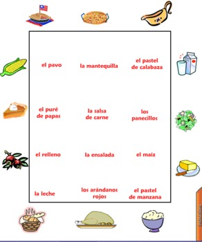 Spanish Thanksgiving Games, Vocabulary and Activities Smart Board