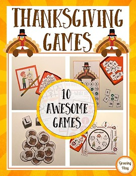 Thanksgiving Games - Classroom Parties, Indoor Recess, Family Fun and More!