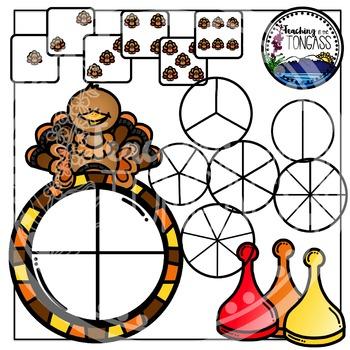 Thanksgiving Spinner Games Clipart Bundle