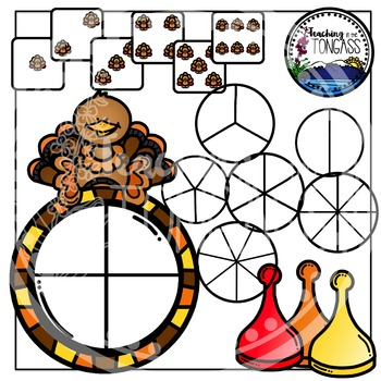 Thanksgiving Clipart Bundle Spinner Games
