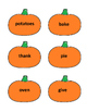 Thanksgiving Games - Nouns & Verbs Sort Game - Thanksgiving Language Arts Games