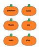 Thanksgiving Games - Nouns & Verbs Sort Game - Thanksgivin