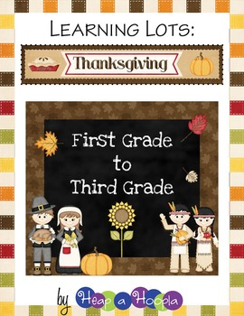 Thanksgiving Games and Activities for First, Second and Third grades