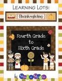 Thanksgiving Games and Activities for Fourth, Fifth and Sixth grades