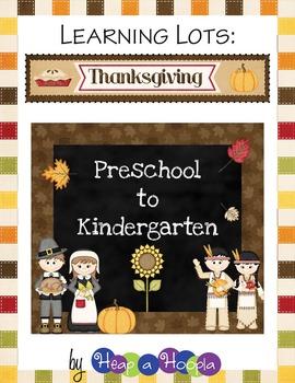 Thanksgiving Games And Activities For Preschool Kindergarten