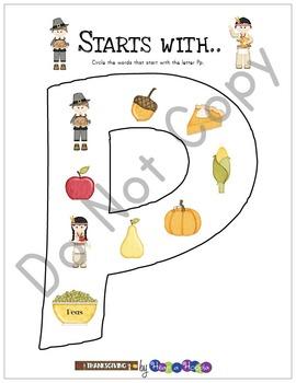 Thanksgiving Games and Activities for Preschool and Kindergarten