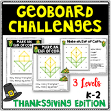 Thanksgiving Geoboard Geometry Challenges - Holiday Task Cards-Fine Motor Skills