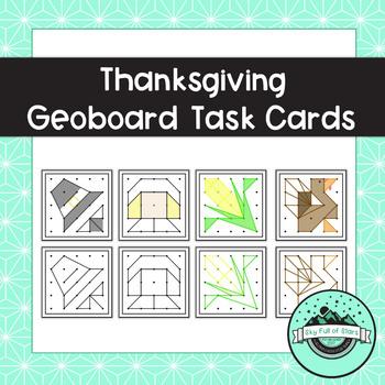 Thanksgiving Geoboard Task Cards