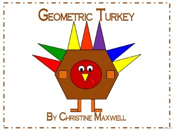 Thanksgiving Geometric Turkey 2D Shapes