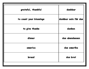 Thanksgiving German Board Game