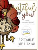 Thanksgiving Gift Tags {Editable}
