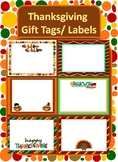 Thanksgiving Gift Tags/ Labels