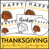 Thanksgiving Gift Tags | Turkey Gift Tags | Student Gift Tags