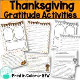 Thanksgiving Give Thanks Gratitude Activities