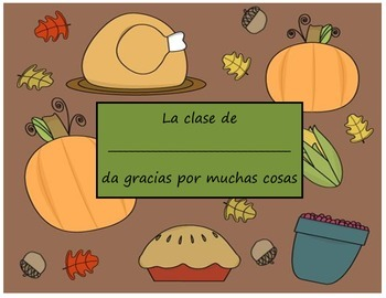 Thanksgiving Give thanks student book (Spanish)