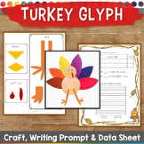 Thanksgiving Glyph, Survey, Craft, Data Sheet, and Writing Prompt