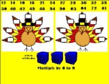 Thanksgiving Gobble Gobble Math Facts - Intermediate SmartBoard 11.4-Windows OS