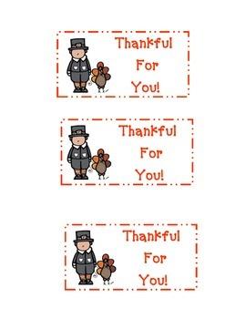 Thanksgiving Goodie Bag Label