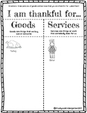 Thanksgiving Goods and Services Worksheet