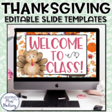 Thanksgiving Google Slides Templates Distance Learning