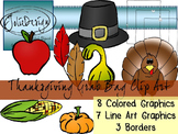 Thanksgiving Grab Bag Clip Art Pack- Color and Line Art 18pc set